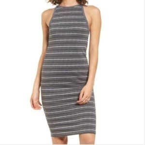 OBEY Tuesday Stripe Tank Dress in Gray Woman sz XS